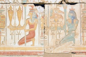 Egyptian Priestesses Carrying Wine